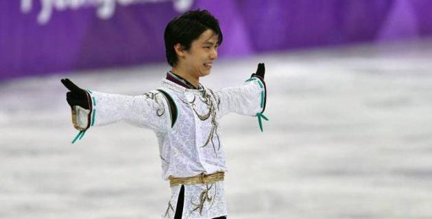"Японский фигурист Юдзуру Ханю выиграл ""золото"" Олимпиады в Пхенчхане"