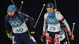 Казахстанские биатлонисты финишировали последними в смешанной эстафете на ОИ-2018