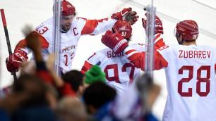 Две шайбы за 30 секунд вывели сборную России по хоккею в финал Олимпиады-2018