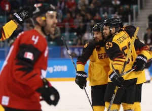 """Сборная Германии сотворила сенсацию и не пустила Канаду с двумя экс-игроками """"Барыса"""" в финал Олимпиады-2018"""