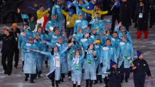 Сборная Казахстана приняла участие в параде спортсменов на закрытии Олимпиады-2018