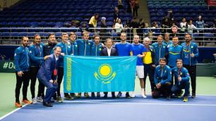 Сборная Казахстана по теннису назвала состав на матч с Хорватией в Кубке Дэвиса