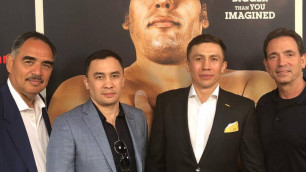 Головкин вместе с братом, тренером и промоутером посетил официальную премьеру фильма от HBO в Голливиде