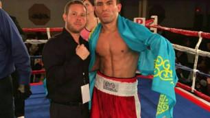 Казахстанский боксер Бобиржан Моминов одержал досрочную победу на профи-ринге