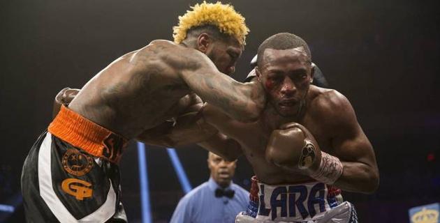 Видео боя Херд - Лара за титулы WBA, IBF и IBO c нокдауном в 12 раунде