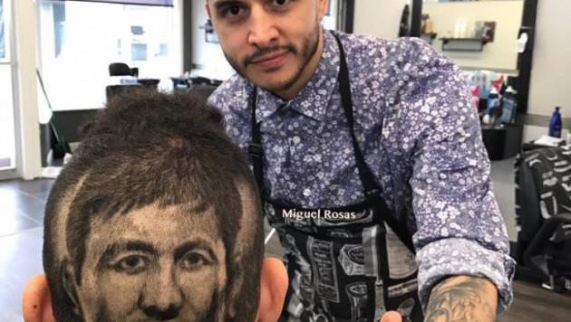 Американский болельщик сделал стрижку в виде портрета Головкина