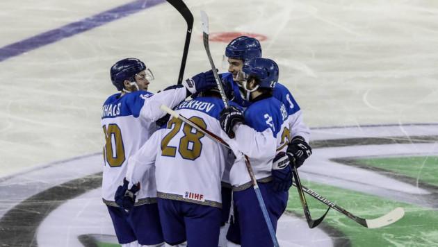 Сборная Казахстана по хоккею одержала вторую подряд разгромную победу на чемпионате мира-2018