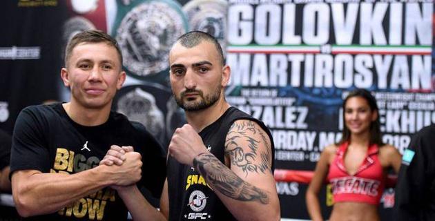 За бой с Мартиросяном Головкин получит самый маленький гонорар за последние три года