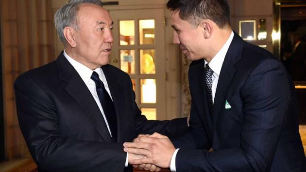 Назарбаев поздравил Головкина с досрочной победой над Мартиросяном