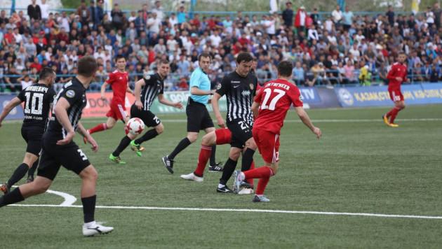 Гол с пенальти на 119-й минуте помог выявить первого полуфиналиста Кубка Казахстана по футболу