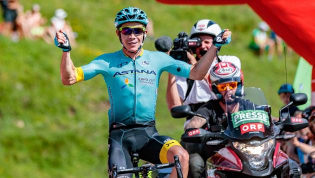 """Капитан """"Астаны"""" вплотную приблизился к ТОП-3 общего зачета """"Джиро д'Италия"""" после 19-го этапа"""