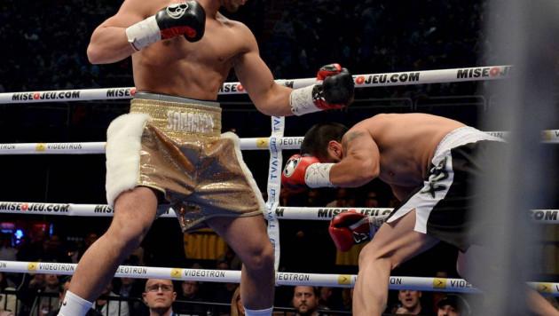 Казахстанский боксер нокаутировал соперника в первом раунде на вечере бокса Лемье - Ашур