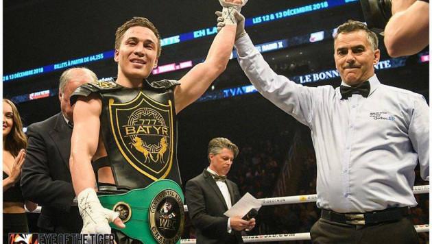 Казахстанский нокаутер Джукембаев завоевал вакантный пояс чемпиона WBC Continental Americas