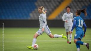 Женская сборная Казахстана по футболу одержала гостевую победу в матче отбора на ЧМ-2019