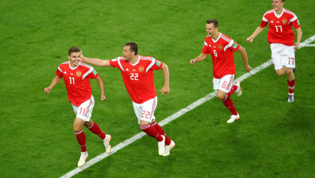 Сборная России забила три гола Египту и одержала вторую победу на домашнем ЧМ-2018