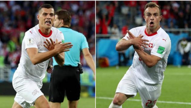 Игроков сборной Швейцарии могут наказать за показ орла с флага Албании в матче с Сербией на ЧМ-2018