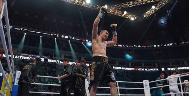 Шуменов вернул себе титул чемпиона WBA и видео других боев вечера бокса в Астане