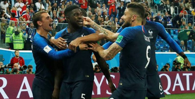 Сборная Франции победила Бельгию и вышла в финал чемпионата мира-2018 по футболу