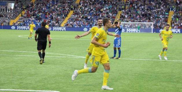 """Видео гола, или как """"Астана"""" выиграла первый матч в новом сезоне Лиги чемпионов"""