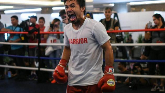 Пакьяо одержал досрочную победу над Маттиссе и завоевал титул чемпиона мира по версии WBA