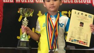 Семилетний казахстанский шахматист вслед за чемпионатом мира выиграл первенство Азии
