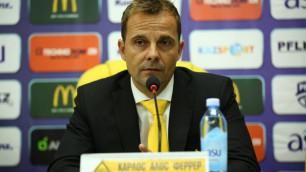 """Тренер """"Кайрата"""" ответил на вопрос о выборе между чемпионским титулом или выходом в группу Лиги Европы"""