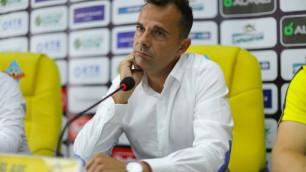 """Тренер """"Кайрата"""" прокомментировал вылет из Лиги Европы и ответил на вопрос о возможной отставке"""