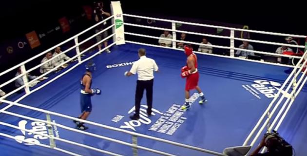 Чемпион Азии из Казахстана три раза отправил соперника в нокдаун перед боем с боксером из России