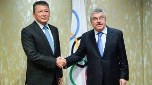Кулибаев встретился с главой МОК во время визита на Азиаду в Джакарту