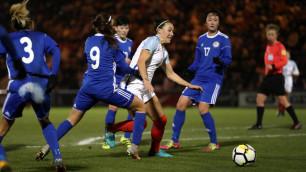 Казахстанские футболистки крупно проиграли Англии в последнем матче отбора на ЧМ-2019