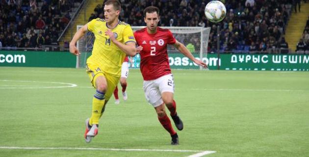 Видео голов в первом матче Лиги наций между сборными Казахстана и Грузии