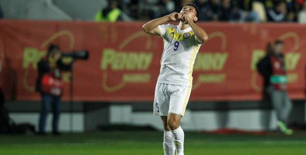 Форвард сборной Казахстана назвал главную цель на первый гостевой матч в Лиге наций