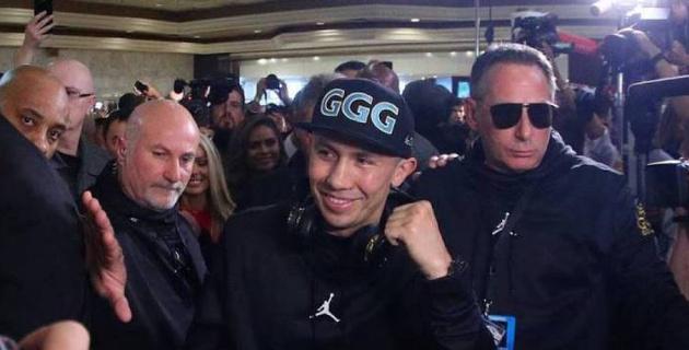 """Головкин прибыл на арену T-Mobile на реванш с """"Канело"""""""
