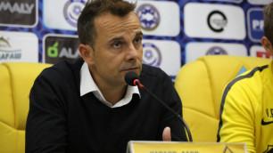 """Главный тренер """"Кайрата"""" назвал ответственного за неожиданное поражение от """"Акжайыка"""""""