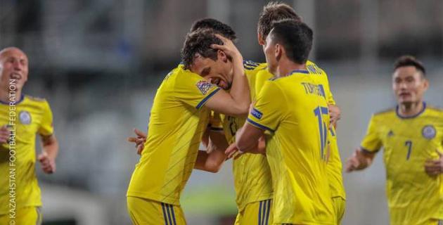 Букмекеры оценили шансы казахстанских футболистов занять первое место в группе в Лиге наций