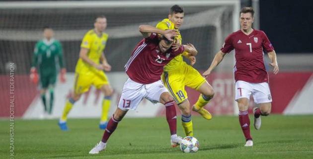 Сборная Казахстана упустила победу над Латвией в матче Лиги наций