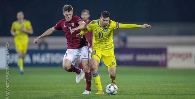 Видео голов и обзор матча с упущенной победой Казахстана над Латвией в Лиге наций