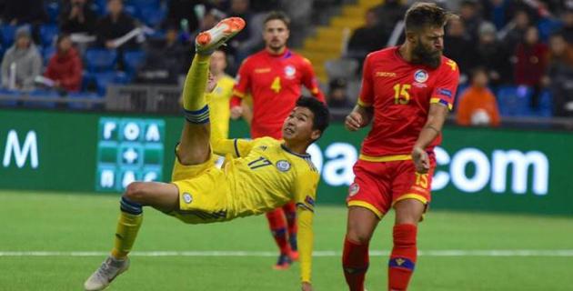 """Казахстан еще покажет себя в Европе - Сейдахмет о голе, победе в матче Лиги наций и планах с """"Уфой"""""""