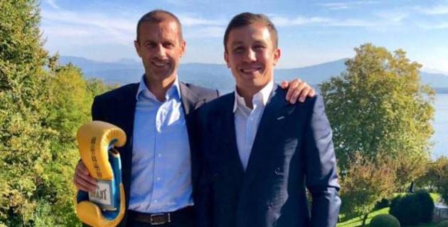 Геннадий Головкин встретился с президентом УЕФА