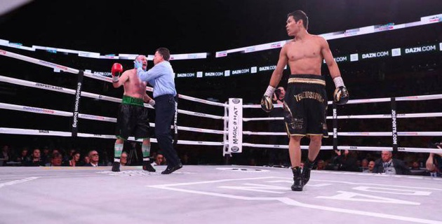 Данияр Елеусинов нокаутировал американца и одержал четвертую победу в профи