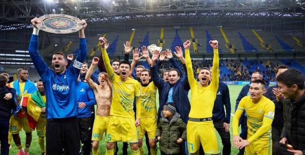 """""""Астана"""" установила уникальное достижение после завоевания пятого чемпионства кряду"""