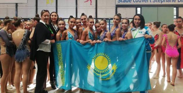 """Казахстанские гимнастки завоевали """"бронзу"""" на турнире во Франции"""