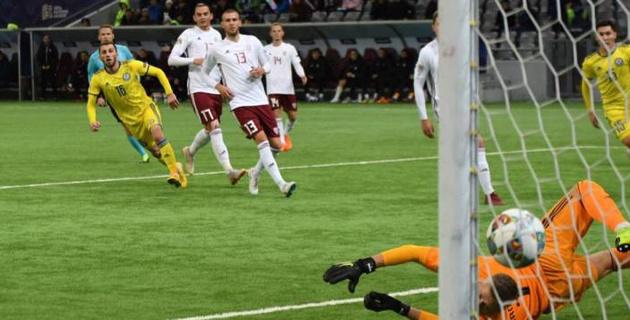 Как забивал Суюмбаев. Видео голов в матче Лиги наций Казахстан - Латвия