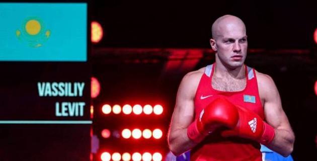 Василий Левит выиграл бой в первом раунде и вышел в полуфинал чемпионата Казахстана