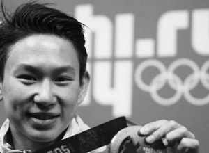 Фигурист из Узбекистана исполнил номер в память о Денисе Тена на московском этапе Гран-при