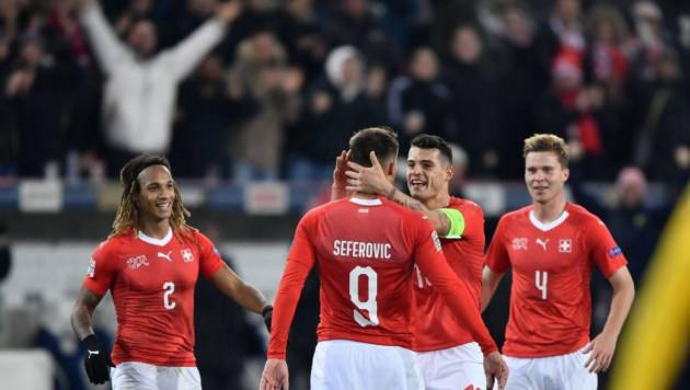 Швейцария разгромила Бельгию пятью голами и вышла в полуфинал Лиги наций, уступая 0:2 к 17-й минуте