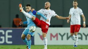 Гол 20-летнего форварда не спас сборную Казахстана от поражения в последнем матче Лиги наций