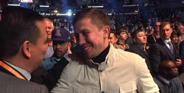 Головкин посетил вечер бокса с участием Фьюри и Уайлдера