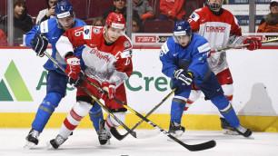 Прямая трансляция второго матча Казахстан - Дания на МЧМ-2019 по хоккею за прописку в элите