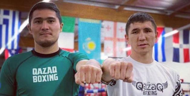 Непобежденные казахстанские боксеры прошли взвешивание перед боями в США